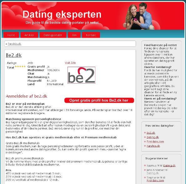 be2.dk - dating-eksperten.dk