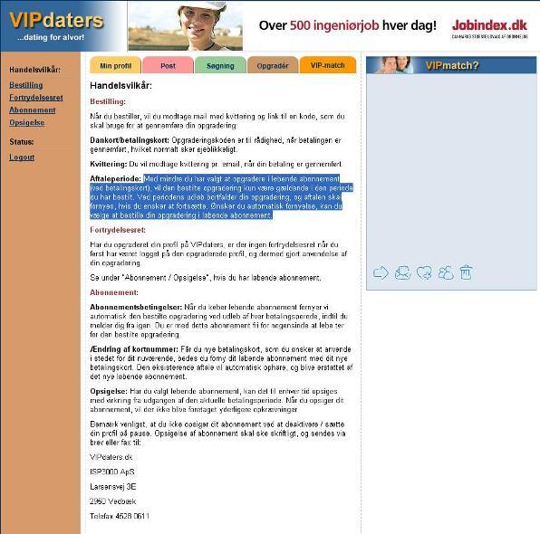 VIPdaters.dk - Abonnement
